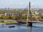 Vansu Bridge over Daugava — Stock Photo