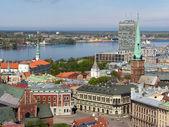 Dome Square and Daugava — Stock Photo