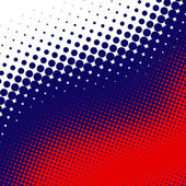 Blue, red, white halftone — Stock Photo
