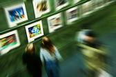 Art exhibition — Stock Photo