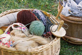 Yarn Basket — Stock Photo