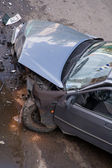 Car after traffic accident — Stock Photo