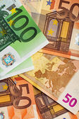 100 i 50 euro — Zdjęcie stockowe