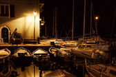 Yachts in the night — Stock Photo