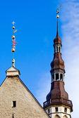Tallinn's Town Hall spire — Stock Photo