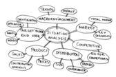 Situation analysis diagram — Stock Photo
