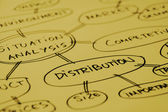 Distribution analysis graph — Stock Photo