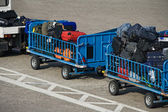 Baggage trolley at airport — Stock Photo