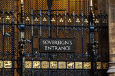 Sovereigns Entrance Westminster — Stock Photo