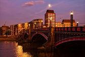 Lambeth Bridge at night — Stock Photo