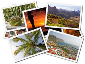 Collage of Gran Canaria postcards — Stock Photo