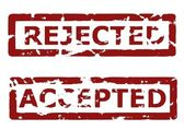 Rejected and accepted — Stock Vector