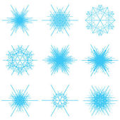 Collage of blue snowflakes — Stock Vector