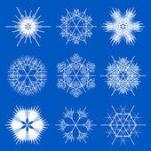 Fractal snowflake designs — Stock Vector