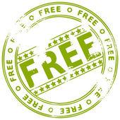 Grunge inchiostro timbro gratis — Vettoriale Stock