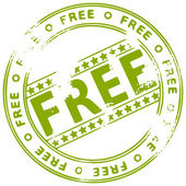 Grunge tinta sello gratis — Vector de stock