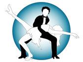 Posing dancers — Stock Vector