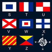 Maritime signal flags S-Z — Stock Vector
