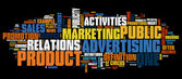 Marketing achtergrond — Vector de stock