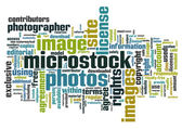 Microstock words — Stock Vector