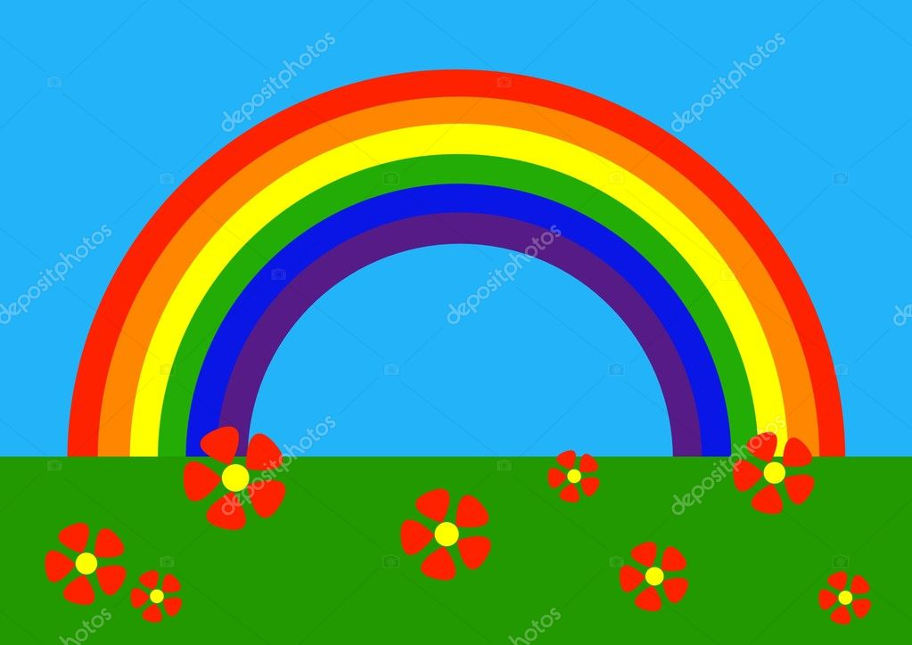 Simple drawing of rainbow — Stock Vector #8160244