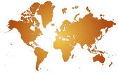Orange World Map — Stock Vector