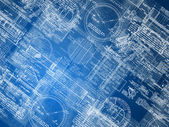 Blueprint background — Stock Photo