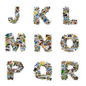 Pictures alphabet J-R — Stock Photo