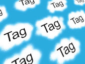 Tag clouds — Stock Photo