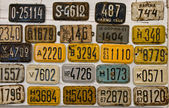 Vintage bicycle plates — Stock Photo