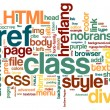 HTML Word Cloud — Image vectorielle