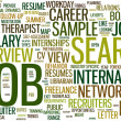 Stock Vector: Job search wordcloud