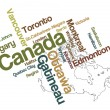 Canada map and cities - Stock Vector