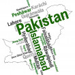 Pakistan map and cities — Stock Vector