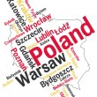 Poland map and cities — Stock Vector
