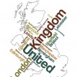 United Kingdom map and cities — Stock Vector