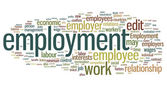 Employment Word Cloud — Stock Vector