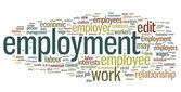 Employment Word Cloud — Stock Vector