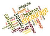 Encouraging words — Stock Vector