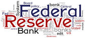 Federal Reserve Bank Concptual Words — Stockvektor