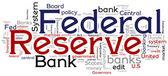 Federal Reserve Bank Concptual Words — Stock Vector