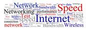 Chmura słowa internet — Wektor stockowy