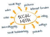 Social media chart — Stock Vector