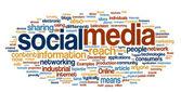 社会的なメディアの単語雲 — ストックベクタ