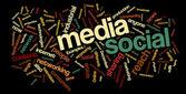 Sociale media word cloud — Stockvector