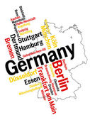 Germany map and cities — Stock Vector