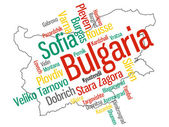Bulgaria map and cities — Stock Vector