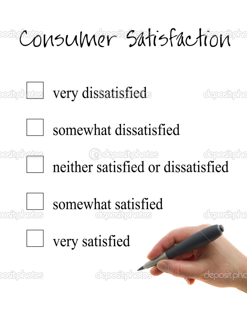 Illustration of the hand filling consumer satisfaction form — Stock Photo #8577523