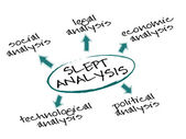 SLEPT Analysis — Stock Vector