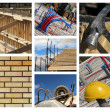 Home Construction Collage - Stock Photo